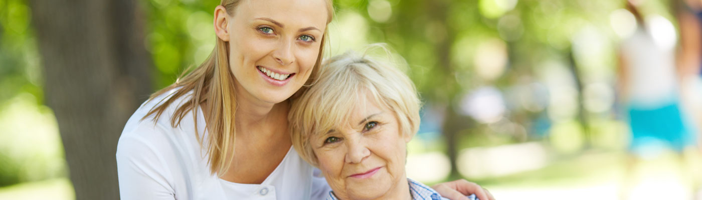 young woman with elderly woman